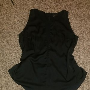 Apt 9 black tank top with mesh details